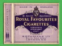 Vintage Cigarette packet Royal Favourites by Rothman #216